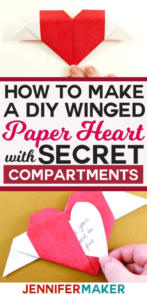 DIY Paper Heart with Secret Message #origami #papercraft #valentinesday