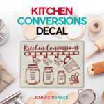Easy Kitchen Conversions project SVG for a variety of measurements