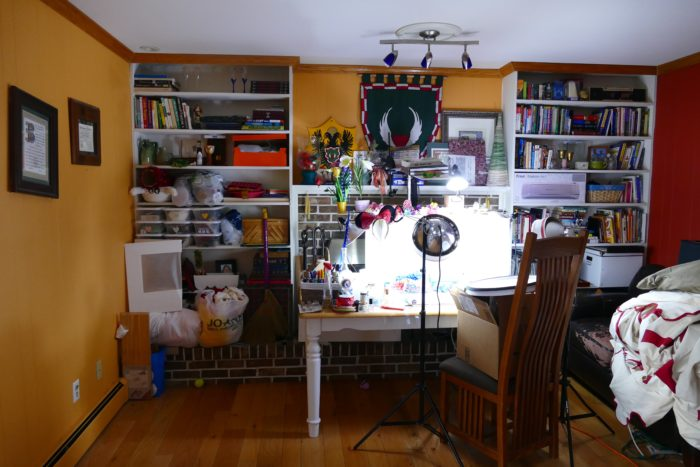 My craft room after it became my office.