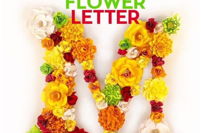 Finished paper flower letter