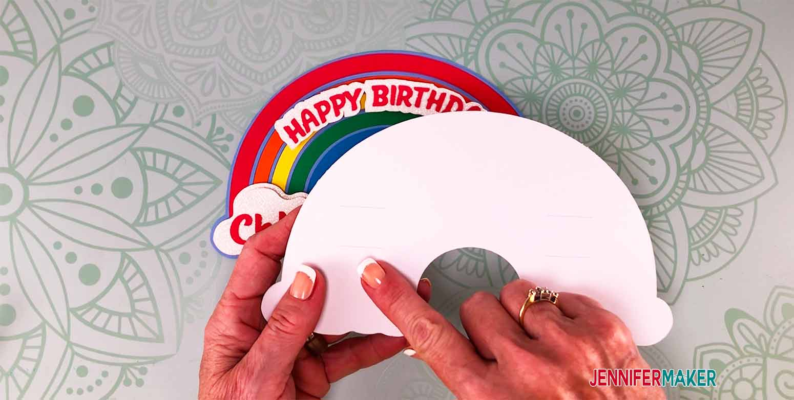 don't glue too close to the cuts in the backer for my personalized cake topper
