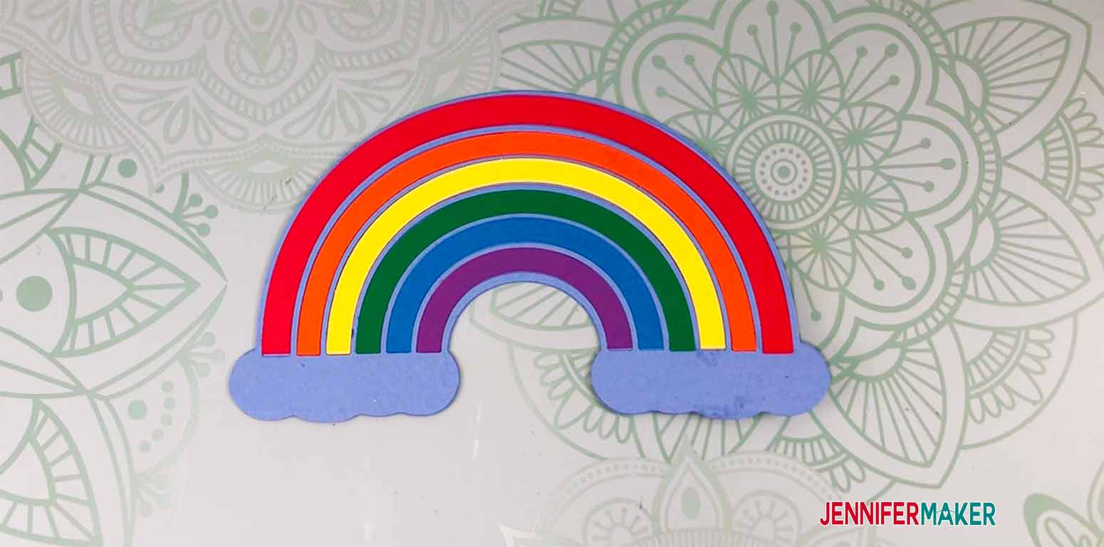 all colors in place on rainbow for my personal cake topper
