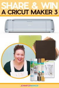 Cricut Giveaway: Enter to win a Cricut cutting machine. Contest ends on the 25th of each month. Open to US and Canadian residents only. See official rules for details. #cricut #cricutmaker