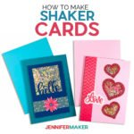 Learn how to use your Cricut to make a Hello and Love Shaker Card