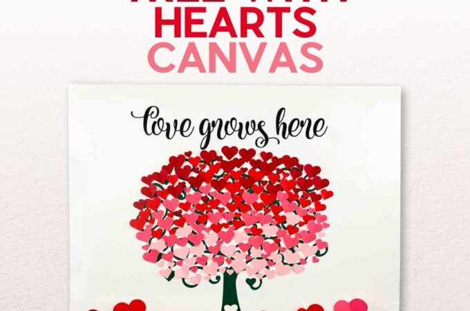 heart tree canvas wall art
