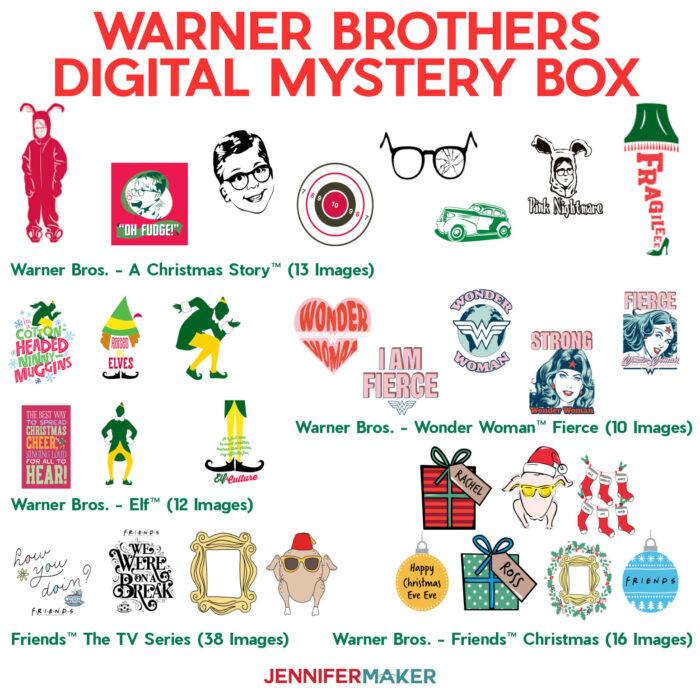 Cricut Digital Mystery Box Warner Brothers