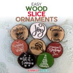 A variety of wood slice ornaments you can make