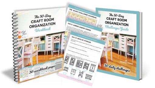 Craft Room Organization Workbook and Challenge