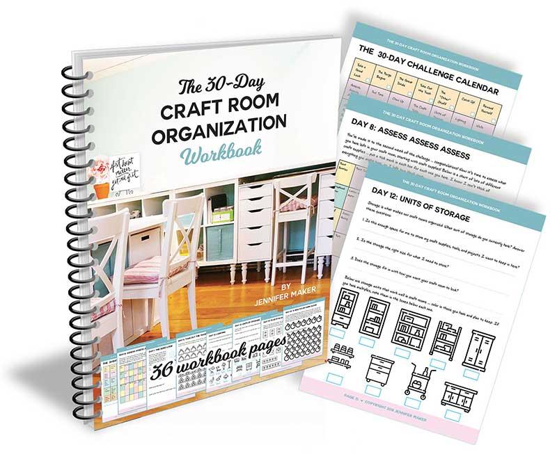 Craft Room Organization Workbook