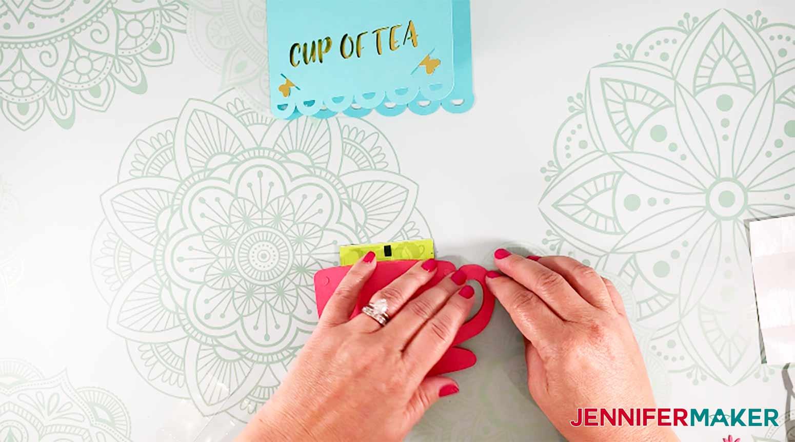 fold tea cup card