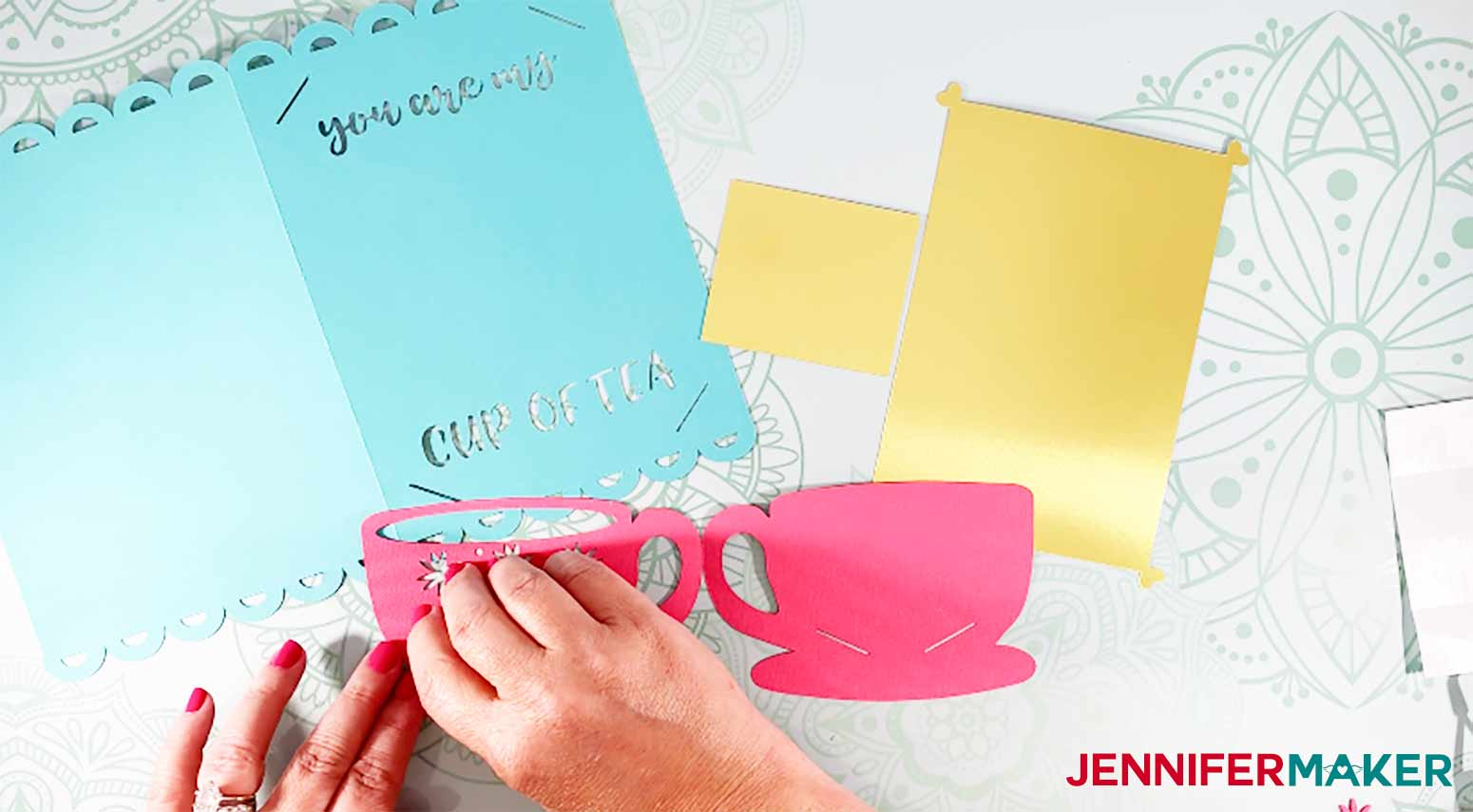 You-Are-My-Cup-Of-Tea-Card-JenniferMaker-Putting-Glue-Dots-On-Cut-For-Insert