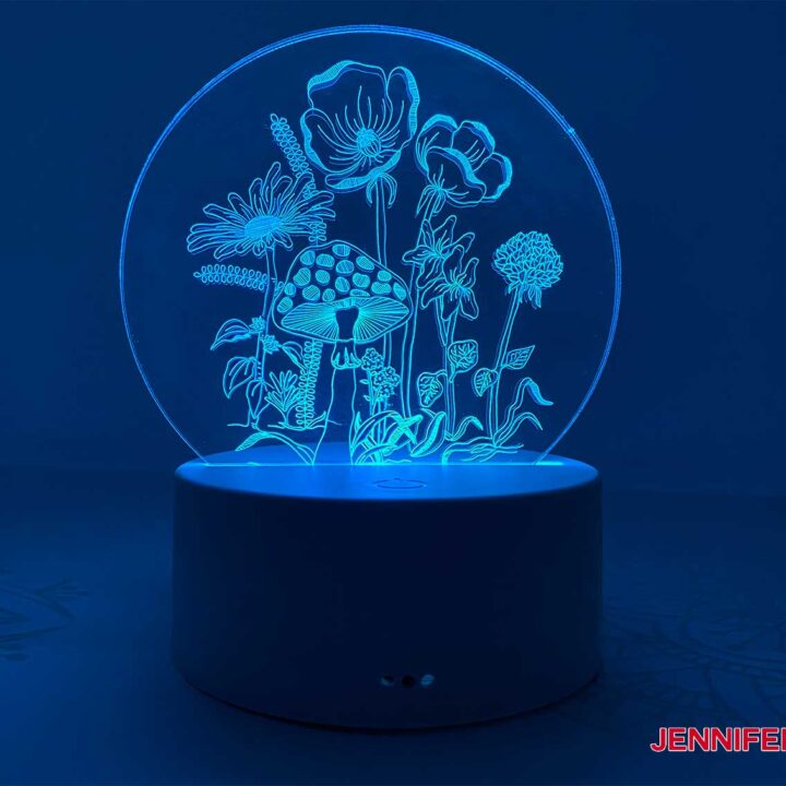 Make this engraved acrylic light
