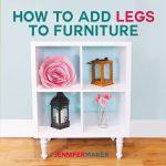 How to add legs to IKEA furniture | diy home decor | ikea kallax shelving unit | ikea alex drawers