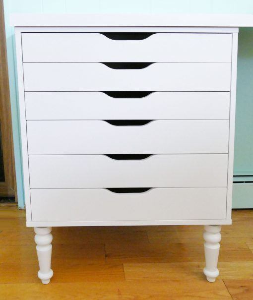 How To Add Furniture Legs To Ikea Shelves And Drawers Jennifer Maker