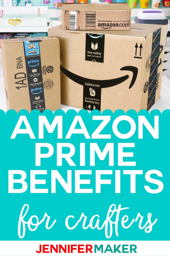 Amazon Prime is a game changer for crafters. Learn why you need to become a prime member and how to receive a 30 day free trial! Amazon is a great place to find craft supplies and Amazon Prime ensures they are at your door in just a few short days! #papercrafts #papercrafting #cricutprojects #vinylprojects #diy #craftprojects