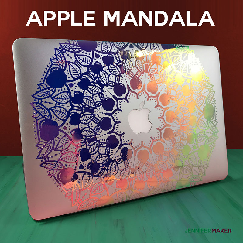 Apple Mandala Design | Free SVG File | Macbook Decal
