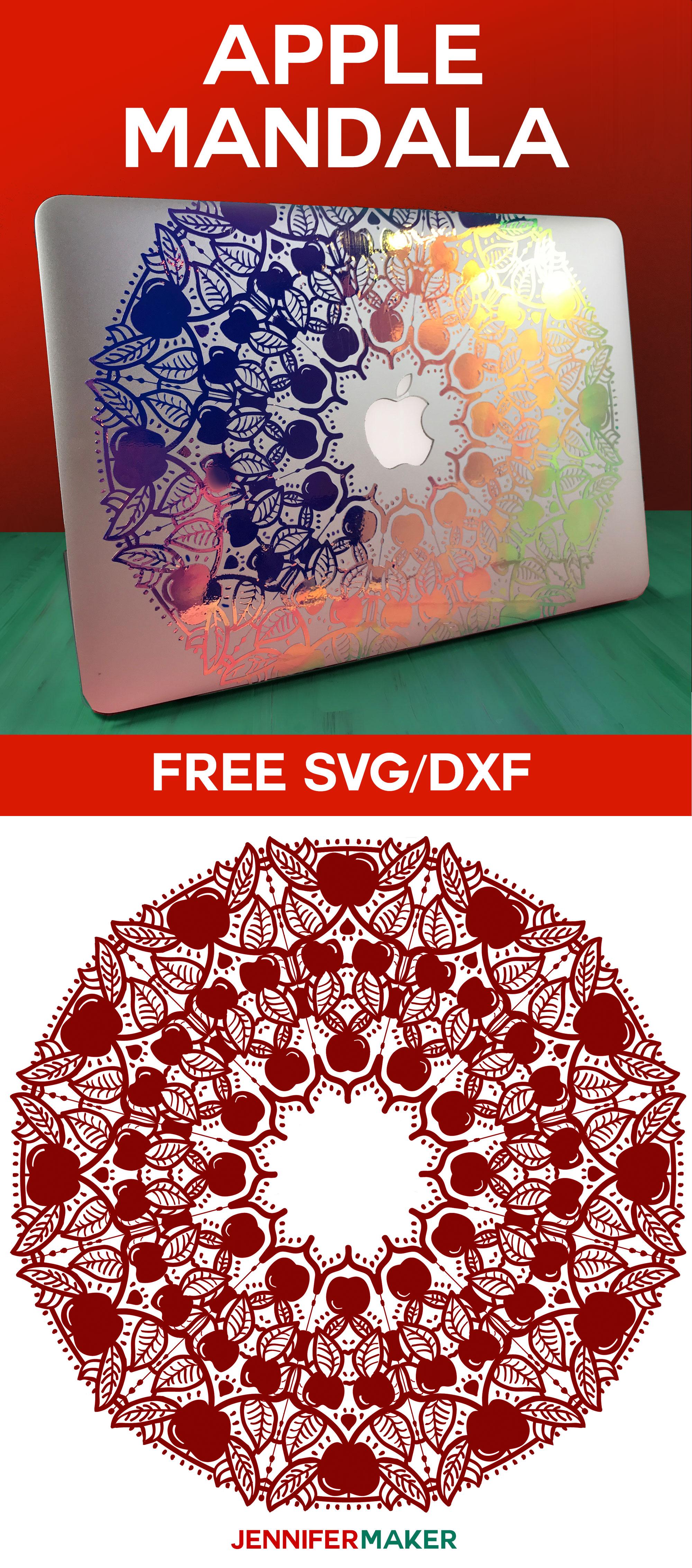 Apple Mandala Design | Free SVG File | Macbook Decal