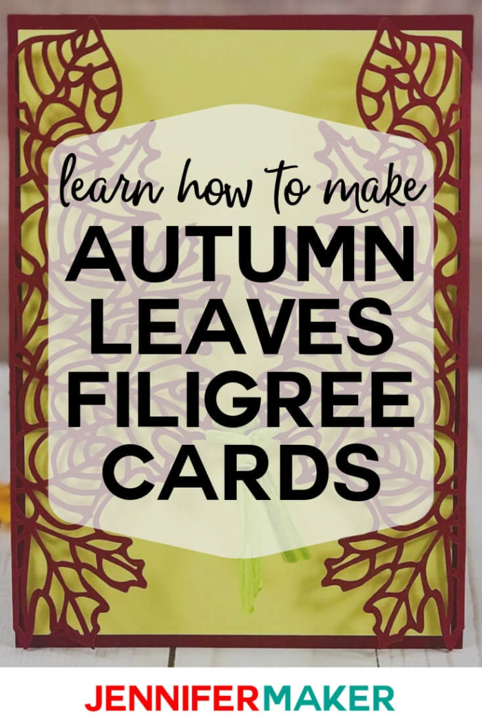 Learn how to make an elegant autumn & fall wedding invitation with a gorgeous filigree design. Or simply make it as a lovely autumn card for a friend!  #cricut #cricutmade #cricutmaker #cricutexplore #svg #svgfile