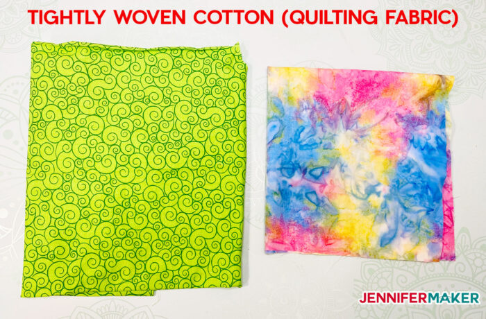 Tightly woven cotton material, like that sold as quilting fabric, is one of the best fabrics for DIY face masks