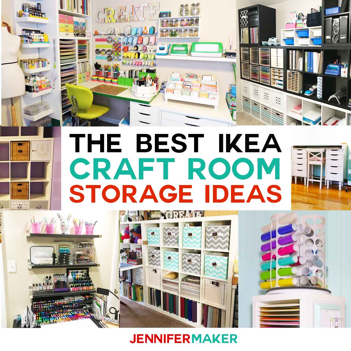 The Best IKEA Craft Room Storage Shelves & Ideas - Jennifer Maker