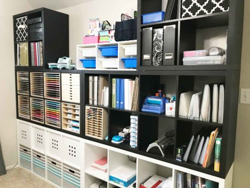 Kallax units make the best IKEA craft room storage