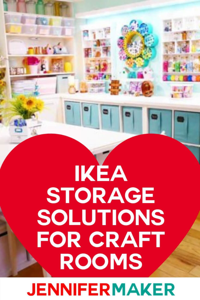 Ikea craft room storage will give you the most bang for your buck when planning your ultimate craft space. Ikea furniture is affordable, fashionable, and functional. #craftroom #ikeastorage #ikeacraftroom