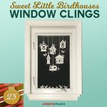 Birdhouse Window Clings | Free SVG Cut File for Cricut and Silhouette