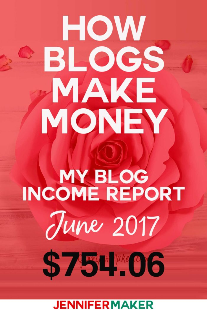 How Do Blogs Make Money: Income Reports Tell The Story of Blogging Revenue (June 2017) #incomereports #blogging