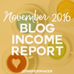 How Do Blogs Make Money: Income Reports Tell The Story of Blogging Revenue (November 2016) #incomereports #blogging