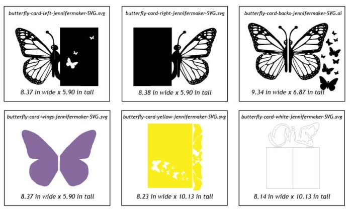 Proper sizing for the pop-up butterfly card by JenniferMaker