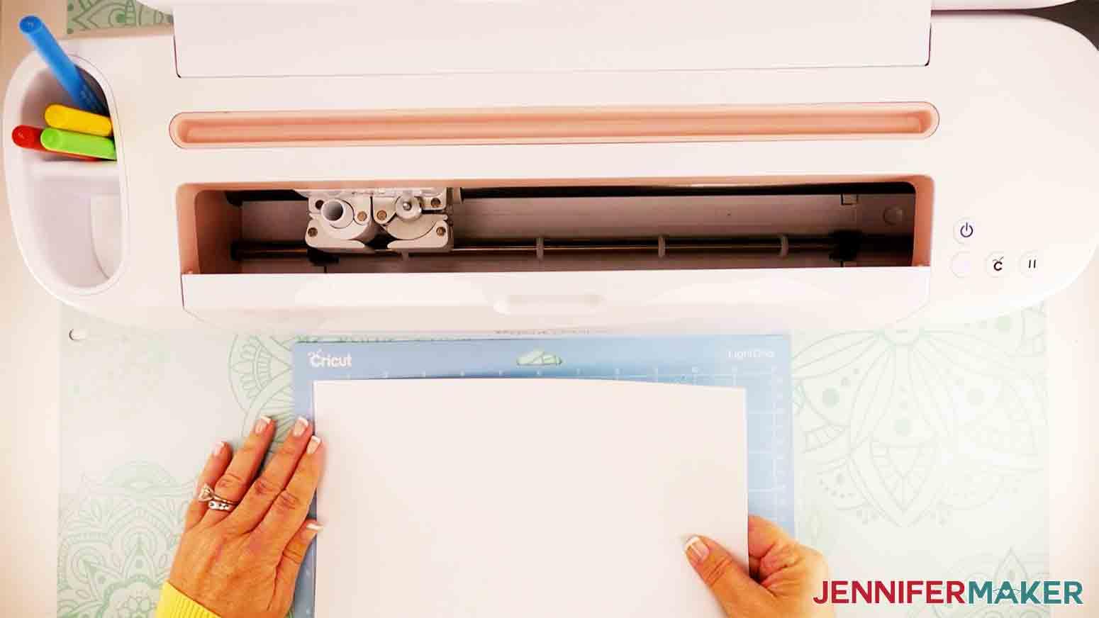 shows laser copy paper on blue mat