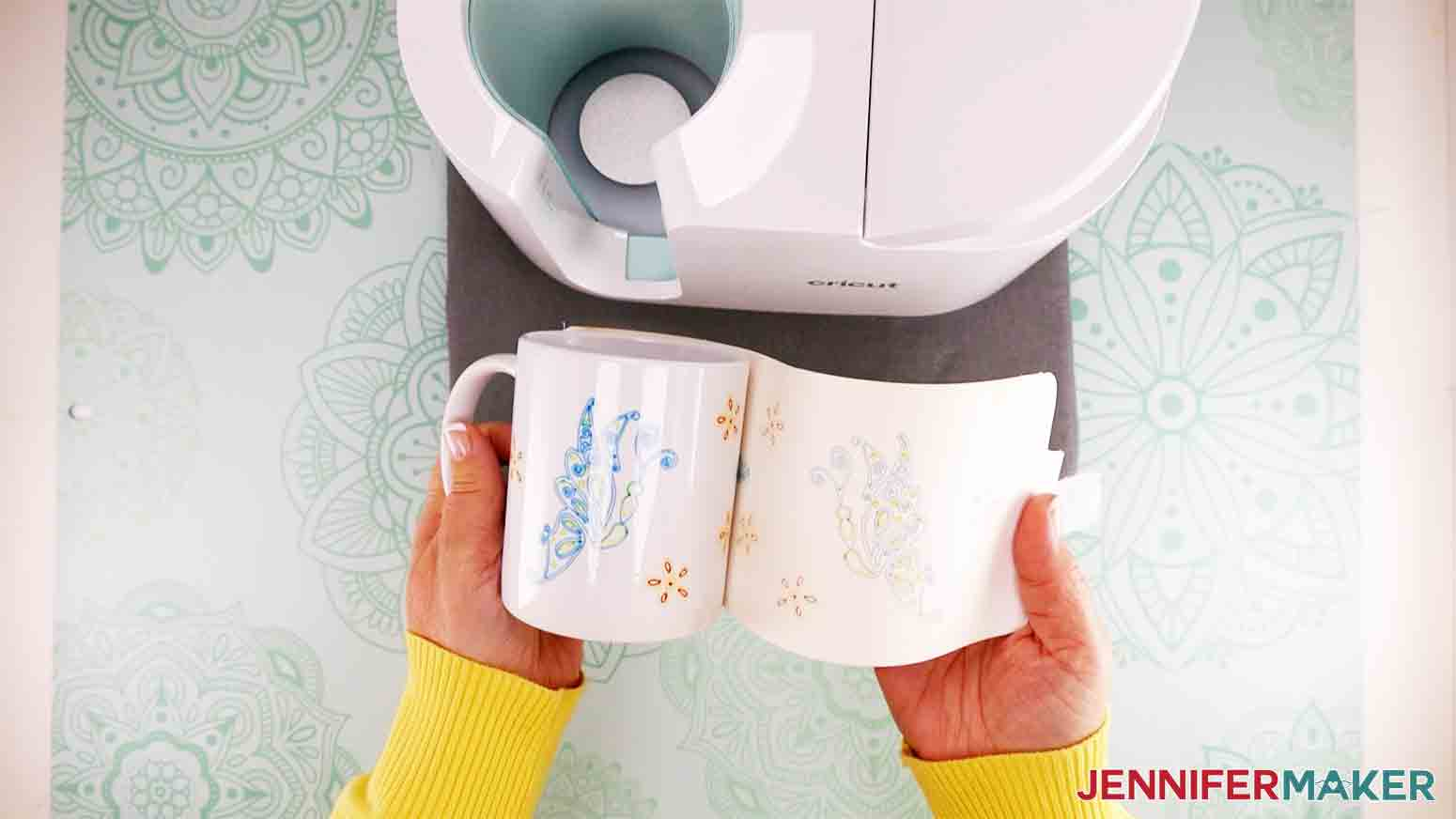 peel back paper and design to reveal a beautiful butterfly mug