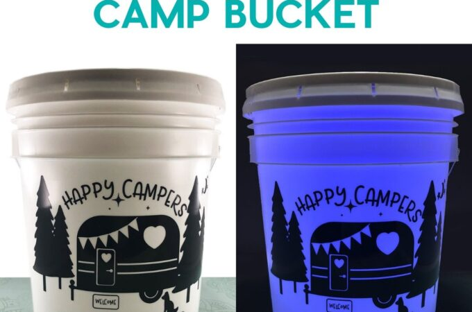 An easy Camping Light Bucket made with your Cricut.