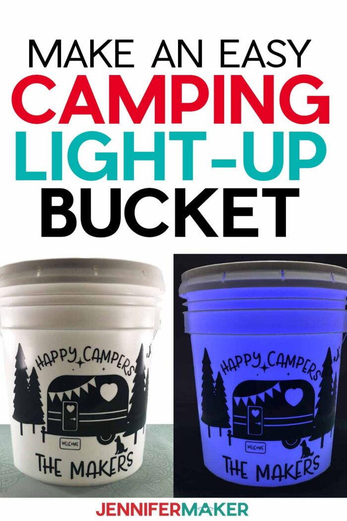 Make an Easy Camping Light Bucket with your Cricut