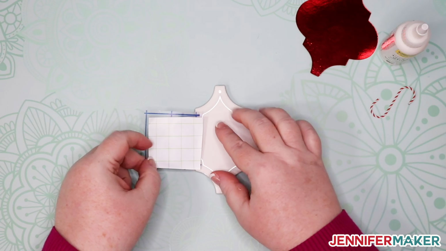 The hinge method of applying a vinyl decal to a surface with transfer tape