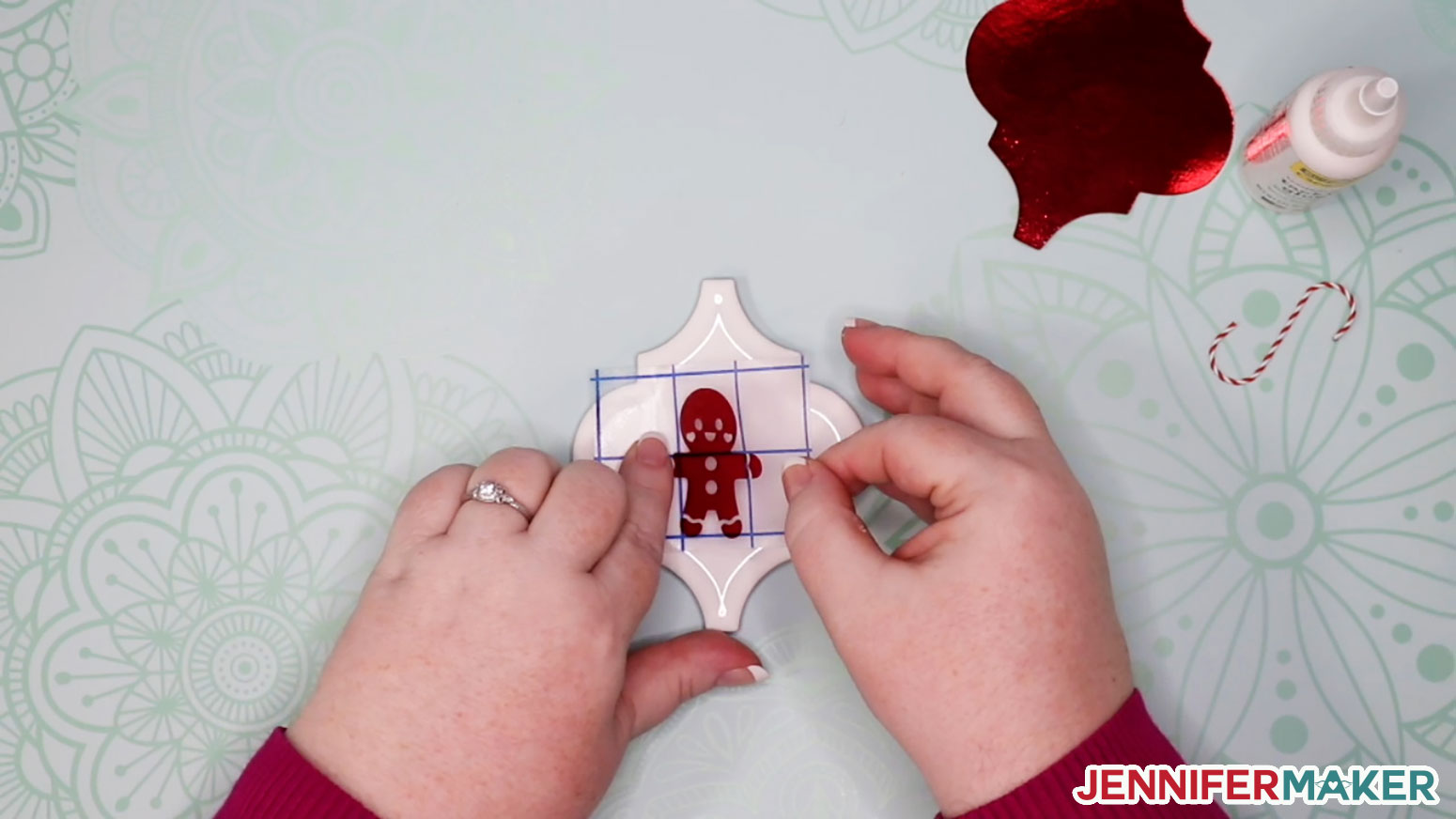 Diy Personalized Tile Ornaments Templates Designs Jennifer Maker