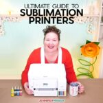 Choosing the Best Sublimation Printer for Crafting - Jennifer Maker with her Epson EcoTank converted with sublimation inks