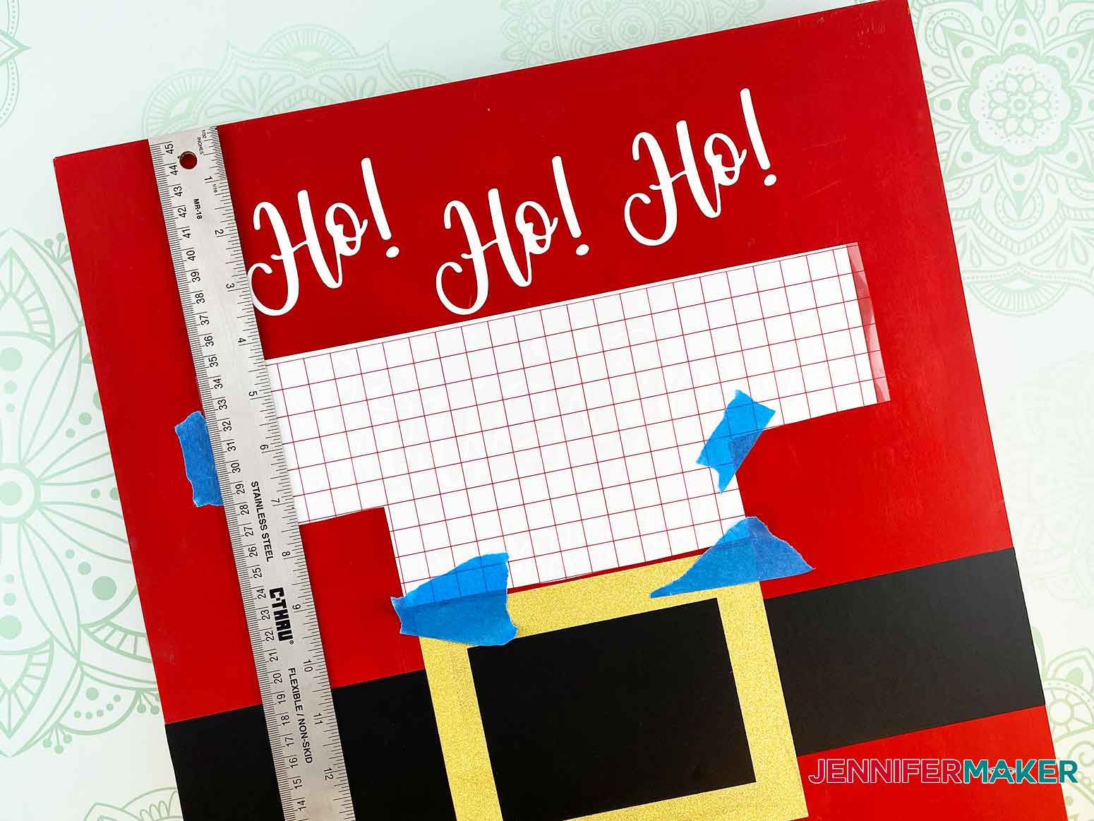 Measure the distance from the top for the vinyl lettering for my Christmas Countdown Sign