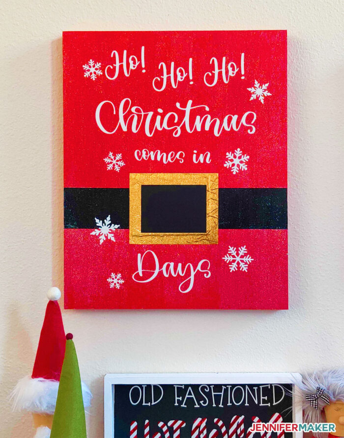 Christmas Day Countdown Sign made by Grandi