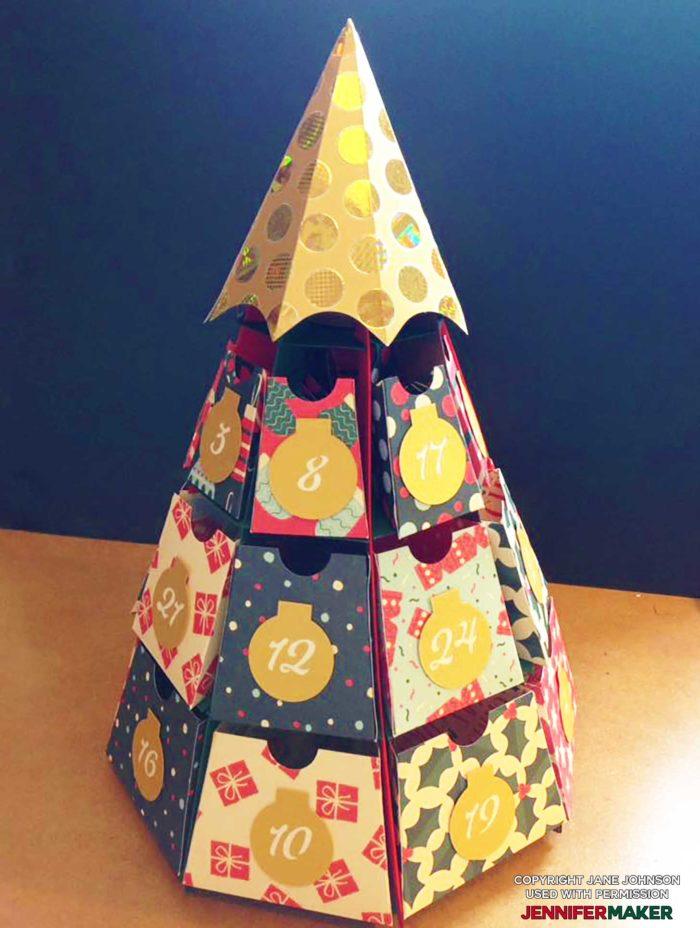 Christmas Tree Advent Calendar by Jane Johnson design by JenniferMaker
