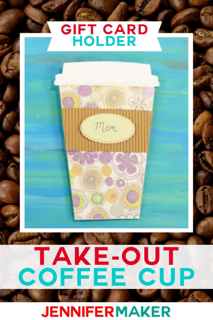 This Coffee Cup Gift Card Holder is designed with the recipient in mind. With a free SVG cut file this project is simple to complete and ready to give. #cricut #cricutmade #cricutmaker #cricutexplore #svg #svgfile