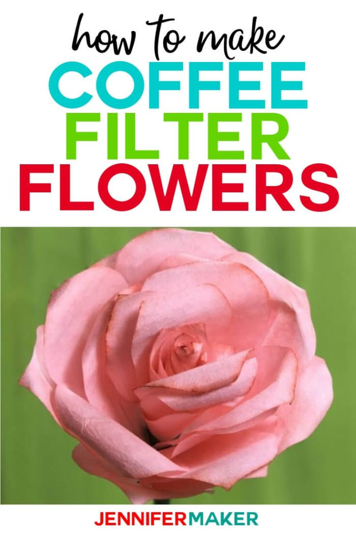 Coffee Filter Flowers are easy to make with step by step tutorials. You'll learn, step by step, how to make roses, peonies, and poppies. #papercrafts #papercrafting #diy #tutorial #craftprojects