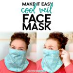 DIY Easy & Cool Veil Face Mask Pattern with Filter Pocket - Free Pattern, SVG Cut File, and Tutorial #facemask #cricut #sewing