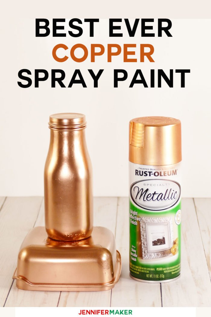 Best copper spray paint for DIY projects is Rust-Oleum Specialty Metallic Copper