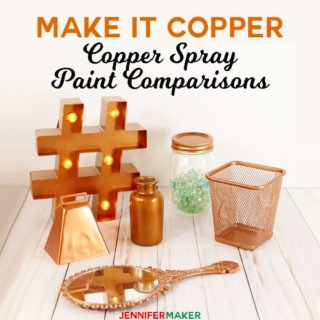 Copper Spray Paint Comparison Test: What is the BEST metallic copper spray paint for metal, plastic, glass and wood? #paint #spraypaint #diy #homedecor