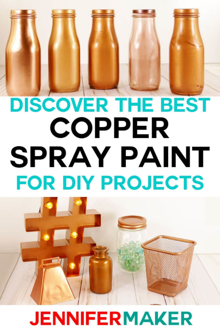 Copper Spray paint can update practically anything to make it look more trendy. I have compared different copper spray paints to find the best one for DIY home projects.  #diy #craftprojects #homedecor #diyhomedecor