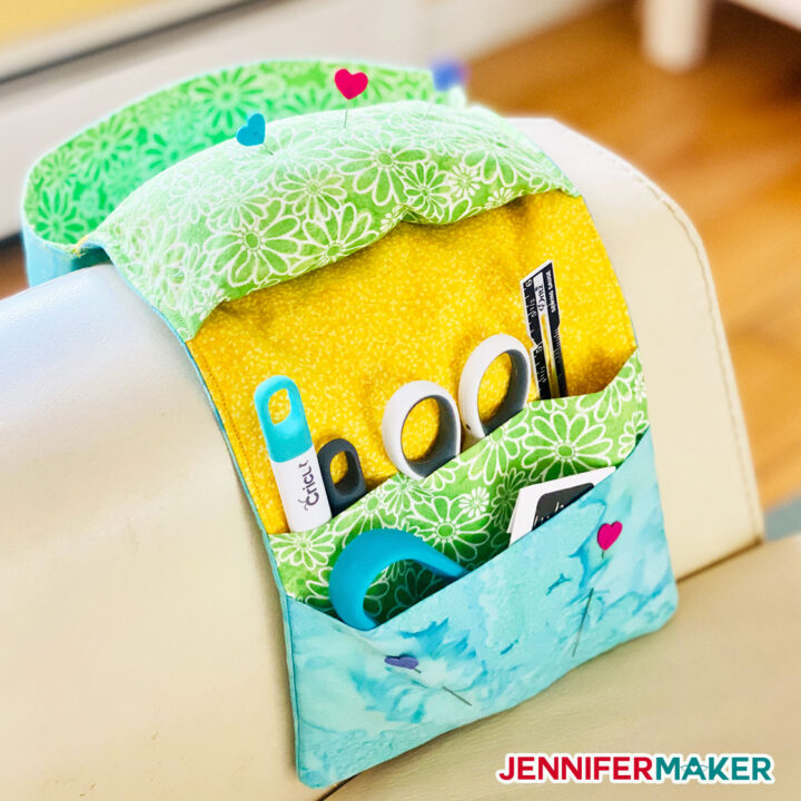 Sew a Couch Caddy Craft Organizer for Tools, Thread, and Sewing Bits and Bobs