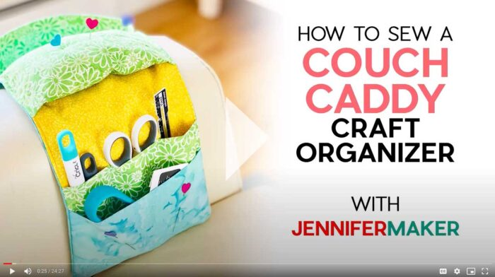 How to Sew a Couch Caddy Craft Organizer Tutorial Video