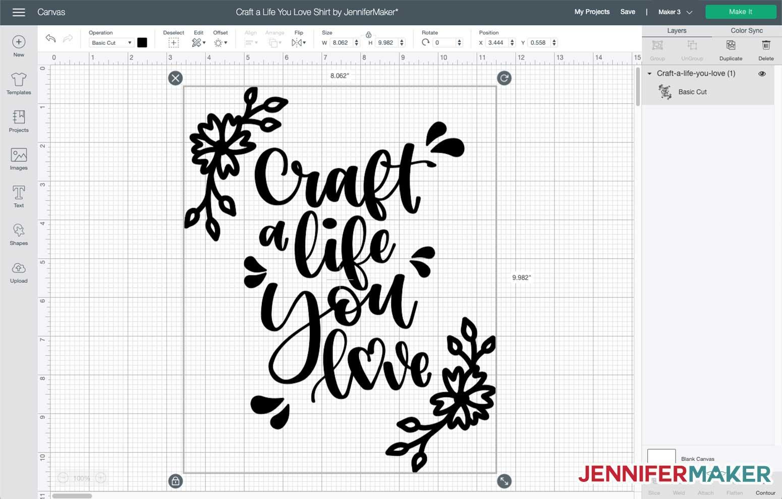 Craft a Life You Love Decal in Cricut Design Space