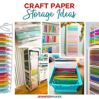 Craft Paper Storage Ideas & Solutions #paperstorage #craftroom #storage #paper
